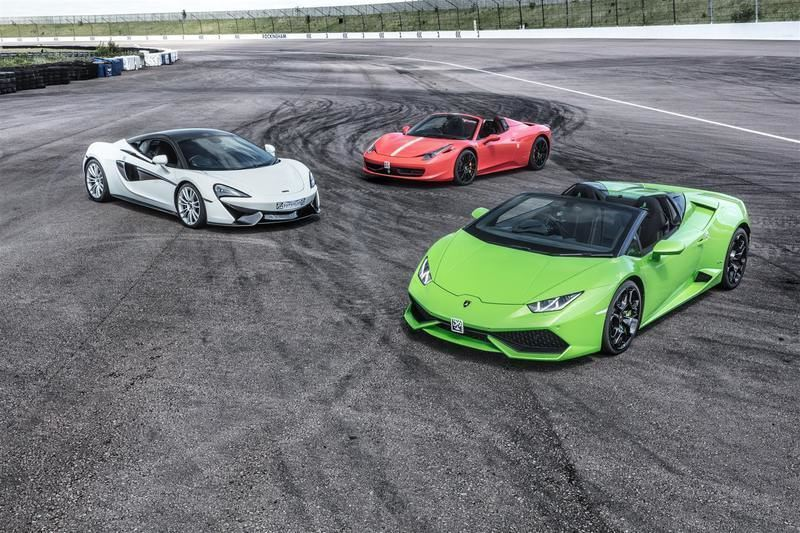premium supercar driving experience package